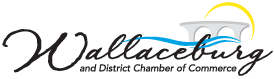 Logo for the Wallaceburg and District Chamber of Commerce: bridging opportunity